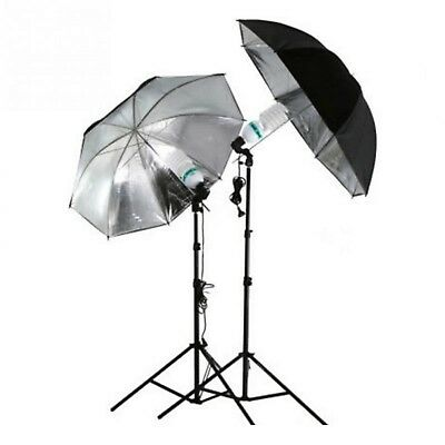 33 Inch Studio Umbrella Flashlight Reflector Black Silver Video Photo Filming