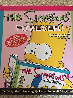 The Simpsons Forever Hardback Book ReferenceSeasons 9 & 10 Bart Homer Marge Lisa