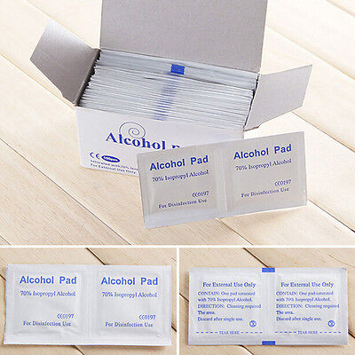 100x Disposable Alcohol Pads Alcohol Wipes Sterilization First Aid Cleaning PL
