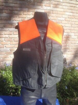 7883ec2229f08 Columbia Hunting Vest Mens Med Canvas Upland Quail Dove Shooting Skeet  Pheasant