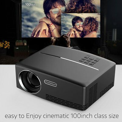 Multimedia HD WiFi Android Bluetooth 3D LED Home Cinema Projector 7000 Lumens FA