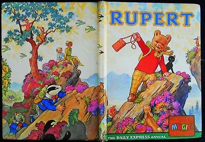 Vintage 1964 Rupert Bear Annual, Magic Paintings Only Started,  Unclipped 6/-
