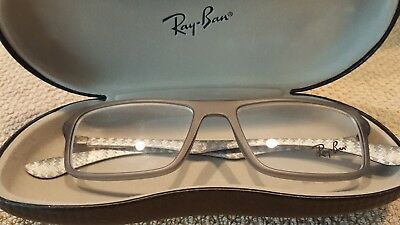 1f9358d8c3 RAY-BAN RB 8902 5481 Eyeglass Frames Transparent Grey 52 17 145 New ...