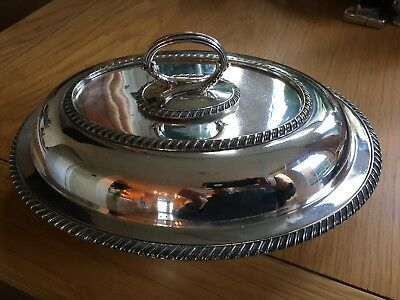 Silver Plated WILLIAM HUTTON ENTREE/SERVING DISH 1900-1910 1.25 EP A