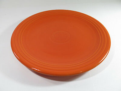 """Antique Radioactive Red 12"""" Round Fiesta Chop Plate by Homer Laughlin"""