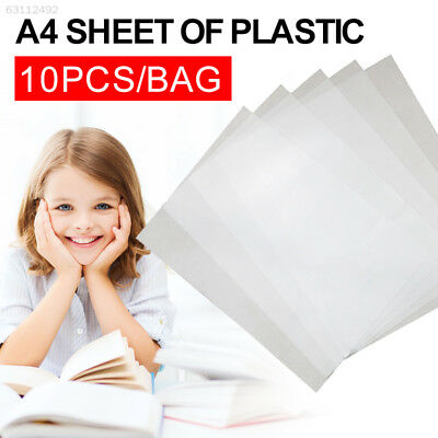 1CE2 10pcs/Bag Plastic Smooth Book Binding Cover Notebook Binding Cover Filing