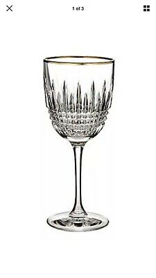 WATERFORD LISMORE Diamond Gold Goblet Crystal New IN BOX 40001464 #TWO