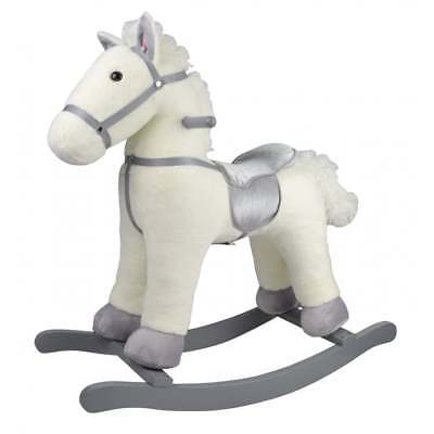 Rocking Horse - White/Grey *WAS £59.99*NOW £19.99*SAVE £40!*
