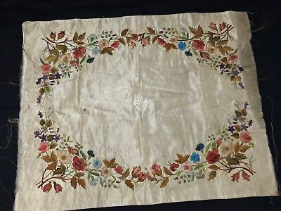 Antique--SILK--Hand stitched and Embroidery--Crewel Work--1770's to 1800's