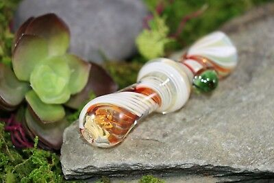 """3"""" Fumed Glass TOBACCO Smoking Chillum Pipe with Candy Swirl Pattern One Hitter"""