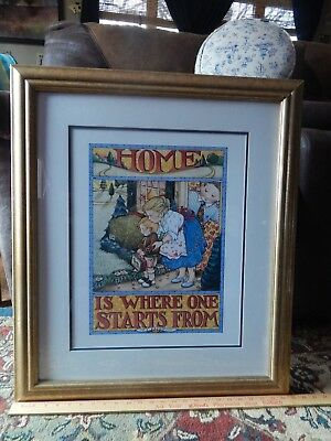 Mary Engelbreit_TS Eliot ~Home is Where One Starts From (21''x25'') FRAMED PRINT