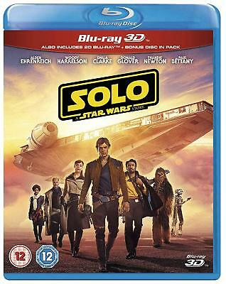 Solo A Star Wars Story (3D + 2D) Blu-ray (Region Free). Ship Now