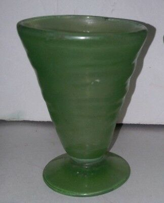 Art Deco Consolidated Glass GREEN CATALONIAN Footed Juice GLASS - 5 Available