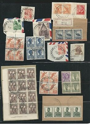 Papua New guinea - small lot of early cancels with some Australia used in PNG