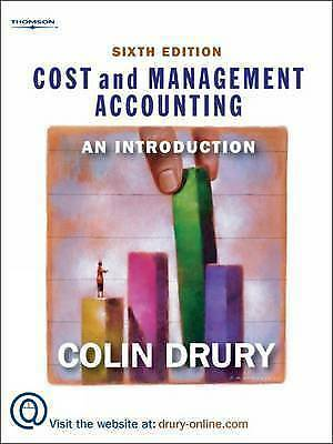 Cost and Management Accounting: An Introduction by Colin Drury (Paperback, 2006)