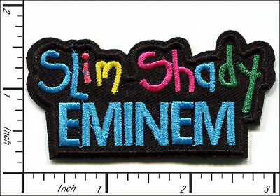 "Slim Shady Eminem~Hip Hop~Rap~Embroidered Patch~3"" x 1 1/2""~Iron or Sew On"