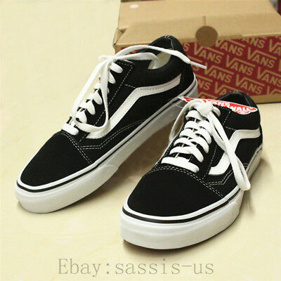 Hot Van Old Skool Skate Shoes Classic Canvas Sneakers Size UK3-UK9.5 WITH BOX