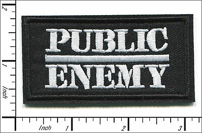 "Public Enemy~Hip Hop~LA Rap~Embroidered Applique PATCH~3"" x 1 5/8""~Iron Sew On"