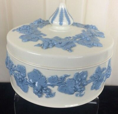 Vintage Wedgwood Embossed Queen's Ware - Blue and White