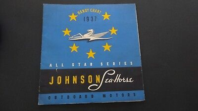 1937 JOHNSON Seahorse Outboard Motor Brochure manual With Price Guide
