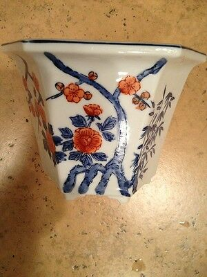Antique Asian Very Old Hand Painted Planter Beautiful