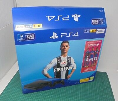 EMPTY BOX ONLY - Sony Playstation 4 - PS4 500GB - Packaging - Fifa 19 Edition