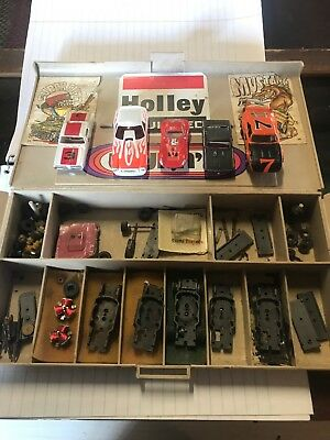 Lot Of Vintage Ho Slot Cars And Parts