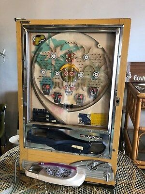 Vintage NISHIJIN SUPER DX PACHINKO MACHINE, Rare Sumo Win Pocket, Works Perfect
