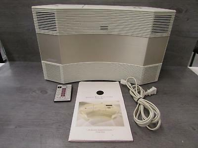 Bose Acoustic Wave Music System Model CD-3000 White CD Player AM/FM Radio Tested
