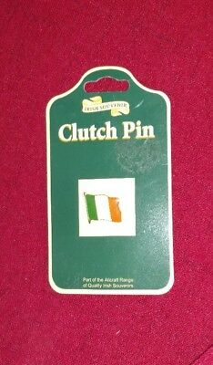 Irish Souvenir Flag Clutch Pin ~New ~ Dublin Ireland