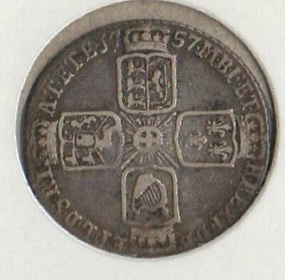 Nice circulated silver 6 pence, KGII, 1757