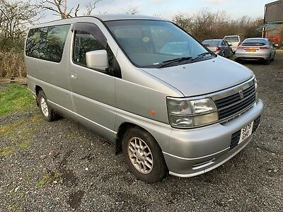 1999 Nissan Elgrand 3.2 Diesel Automatic 8 Seater No Reserve