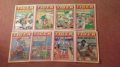 TIGER COMICS x 8 ISSUES FROM 1982.