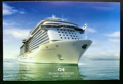 "Post Card ~ Princess Cruises 2013 ""ROYAL PRINCESS"" Inaugural 6x4 Mint Condition"