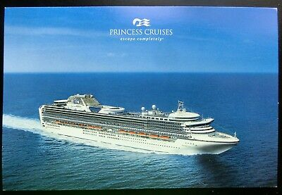 "Post Card ~ Princess Cruises ""escape completely®"" 6x4 Perfect Mint Condition"