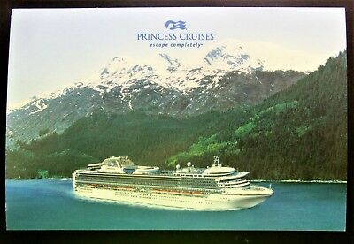 "Post Card ~ Princess Cruises ""escape completely®"" 6x4 Perfect Mint ALASKA"