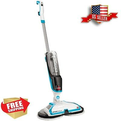 Electric Hard Floor Cleaner Grout Vinyl Wash Spin Mop Scrubber Machine Wood Tile