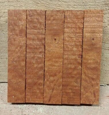 5 x CHUNKY !! WOODTURNING WOODWORKING FIGURED MAHOGANY PEN BLANKS ! VERY RARE !!