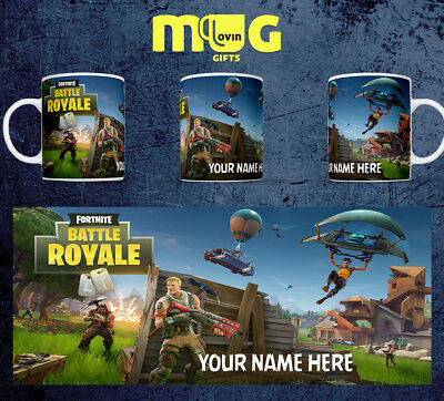 Fortnite D2 Photo Mug Cup Personalised Gift Birthday Kids Game Gamer Tag