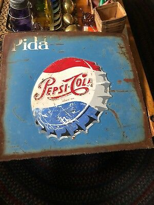 Pepsi Cola Pida Vintage Metal Sign