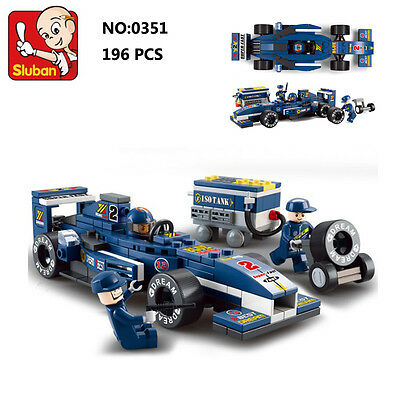 Sluban B0351 Formula Racing Car F1 Figure DIY Building Block Toy blocks toys