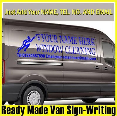 Window Cleaning Vehicle Sticker Self Adhesive Graphic Decal Water Proof Vinyl