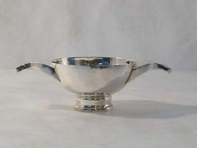 "W&W English sterling silver, hand hammered ""Arts and Craft"" style dish."