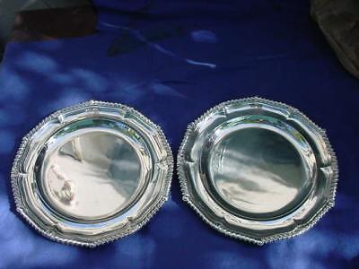Paul Storr London Sterling 2 Plates / Chargers 1808 / 1810 45.5 troy oz.