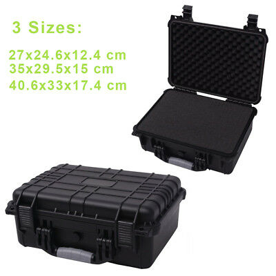 Protective Equipment Hard Carry Case Plastic Box Camera Removable Foam 3 Sizes