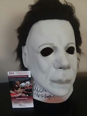 Michael myers mask autographed by Nick castle