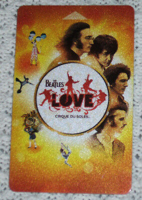 BEATLES Love LAS VEGAS Cirque du Soleil MIRAGE Casino Hotel Key CARD