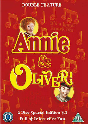 Oliver! & Annie - Sing Along Edition - 2DVD SET - BRAND NEW SEALED Albert Finney