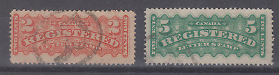 Canada Scott F1-2 - Used Registration Stamps - Cv $12.00  -A-