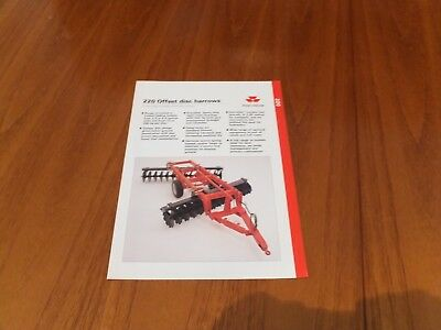 Massey Ferguson 220 Offset Disc Harrows Brochure